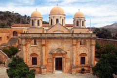 The Monastery of Agia Triada in Crete, Greece Stock Image