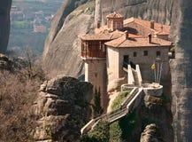 Monastery Agias Varvaras Roussanou Stock Photography