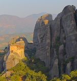 Monastery of Agios Nikolaos Anapafsas. In Meteora Royalty Free Stock Photo