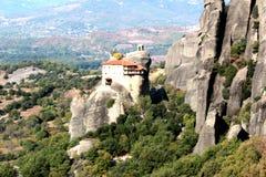 Monastery of Agios Nikolaos Anapafsas in Meteora Royalty Free Stock Photo