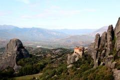 Monastery of Agios Nikolaos Anapafsas in Meteora Stock Photos