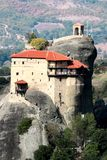 Monastery of Agios Nikolaos Anapafsas in Meteora Stock Images
