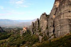Monastery of Agios Nikolaos Anapafsas in Meteora Stock Photography