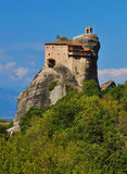 Monastery Agios Nikolaos at Meteora, Greece Stock Photos