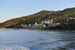 Monastery of Agios Pantelehmwn Royalty Free Stock Images