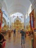 Monastery of Agios Panteleimon Russian in holy mountain Athos in Greece Stock Image