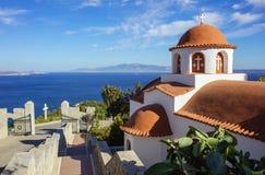 Monastery of Agios Savvas, Pothia, capital of Kalymnos, Dodecane royalty free stock image