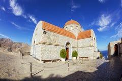Monastery of Agios Savvas, Pothia, Kalymnos, Greece royalty free stock images