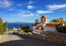 Monastery of Agios Savvas, Pothia, Kalymnos, Greece stock photography