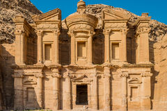The Monastery (Al Deir) in nabatean city of  petra jordan Stock Images