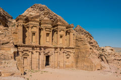 The Monastery (Al Deir) in nabatean city of  petra jordan Stock Photography
