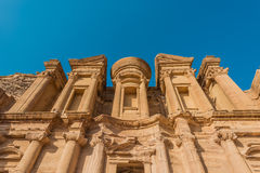 The Monastery (Al Deir) in nabatean city of  petra jordan Royalty Free Stock Image