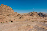 The Monastery (Al Deir) in nabatean city of  petra jordan Royalty Free Stock Photo