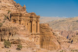 The Monastery (Al Deir) in nabatean city of  petra jordan Stock Photo