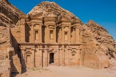 The Monastery (Al Deir) in Nabatean city of  Petra Jordan Stock Image
