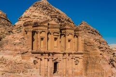 The Monastery (Al Deir) in Nabatean city of  Petra Jordan Royalty Free Stock Photography