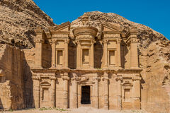 The Monastery Al Deir nabatean petra jordan Stock Images