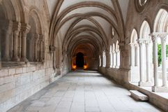 Monastery of Alcobaça, in Portugal, classified as a patrimony of humanity by Unesco.  royalty free stock photography