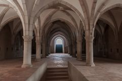 Monastery of Alcobaça, in Portugal, classified as a patrimony of humanity by Unesco.  royalty free stock photo
