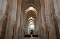 Monastery of Alcobaça, in Portugal, classified as a patrimony of humanity by Unesco.  stock photography