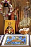 Monastery Altar. Serbian Orthodox monastery Altar royalty free stock photography