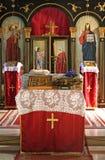 Monastery alter. Serbian orthodox Monastery alter royalty free stock photography