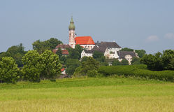 The monastery Andechs in Bavaria Royalty Free Stock Photos