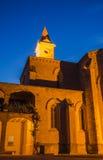 Monastery apse illuminated evening view Stock Photos