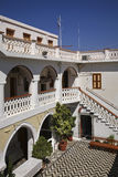 Monastery of Archangel Michael Panormitis on Symi island. Greece Royalty Free Stock Photos
