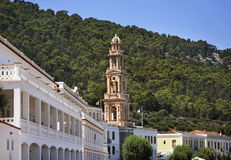 Monastery of Archangel Michael Panormitis on Symi island. Greece Stock Images