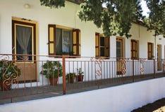 Monastery of Archangel Michael Panormitis on Symi island. Greece Stock Photography