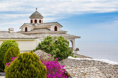 Monastery of Archangel Michael, Thassos island, Greece. View of Monastery of Archangel Michael, Thassos island, Greece Stock Photos