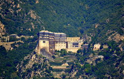 Monastery  Athos Greece Royalty Free Stock Image
