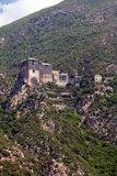 Monastery on athos mountain Stock Photography