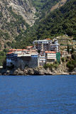 Monastery on athos mountain royalty free stock photos