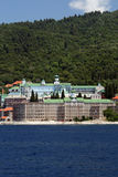 Monastery on athos mountain stock images