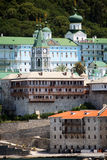 Monastery on athos mountain Stock Image