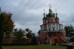 Monastery autumn day stock photography