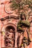 The monastery in baroque city Amorbach, Bavaria, Germany Royalty Free Stock Image