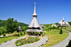 The Monastery of Barsana. Barsana is a village in Maramures, on the right bank of the river Iza, 20 km off Sighetul Marmatiei Royalty Free Stock Images