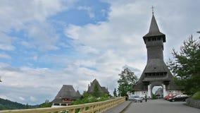 The Monastery of Barsana, Romania stock video