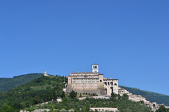 Monastery and Basilica of San Francesco in Assisi Royalty Free Stock Images
