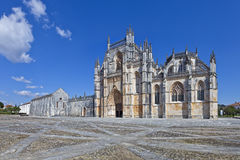 Monastery of Batalha. Masterpiece of the Gothic and Manueline architecture Royalty Free Stock Photo