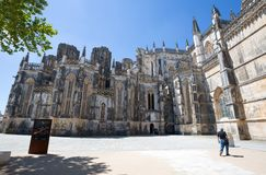 Monastery of Batalha in Portugal. It is a Dominican convent in the civil parish of Batalha in Portugal and is listed in the UNESCO. Monastery of Batalha in stock image