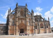 The monastery in Batalha. View on the monastery Santa Maria da Vitoria in Batalha Royalty Free Stock Images