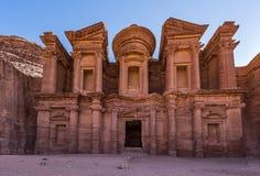 The Monastery. The Beautiful Monastery in Jordan Royalty Free Stock Photos