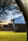 Monastery of bendiktbeuern. Look to the famous monastery of benediktbeuern Stock Photography