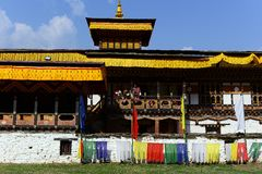 Monastery in Bhutan Royalty Free Stock Photo