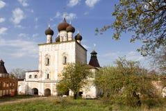 The monastery of Boris and Gleb, Gate of the Sretensky Church, Yaroslavl region Stock Photo