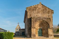 Monastery of Bravaes in Ponte da Barca, north of Portugal. Former Benedictine monastery that at the end of century XII was. Instituted like commendation of the stock photo